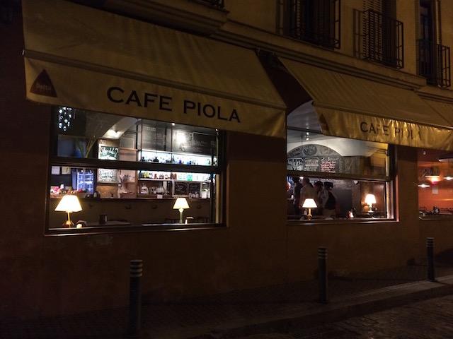 スペインのカフェ