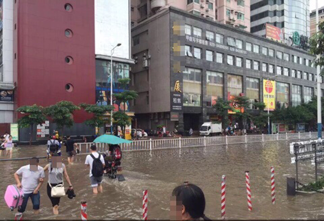 水浸しの広州