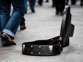 お金を入れるギターケース
