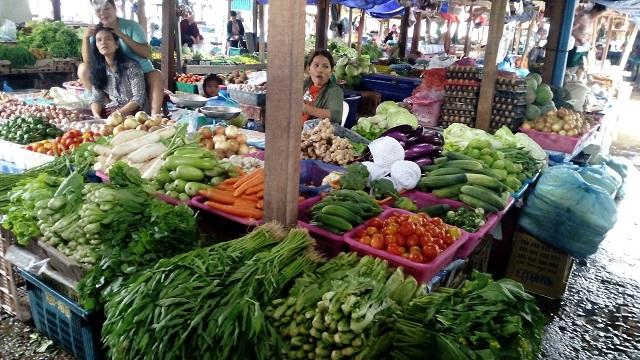 ラオスのローカル市場