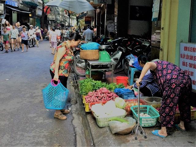 ハノイのローカルマーケット