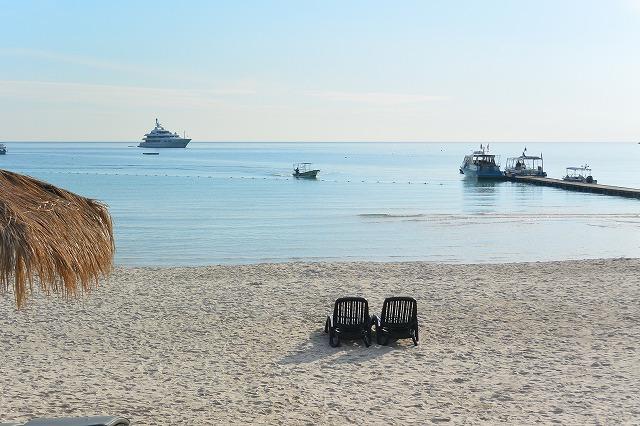 レダン島のビーチ