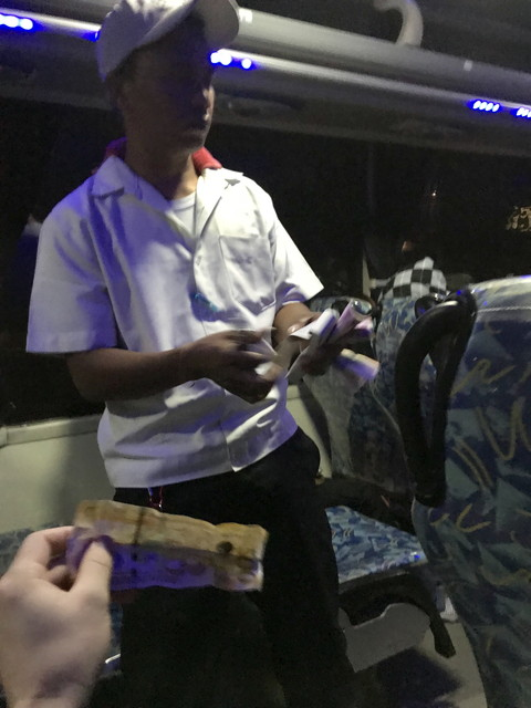 バス料金の支払い