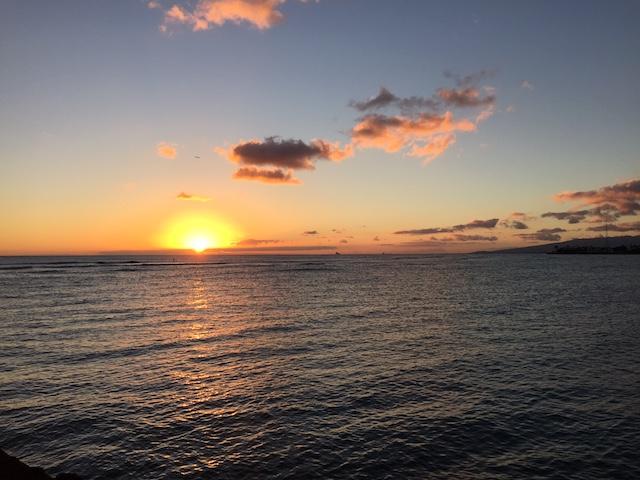 ハワイの日の出