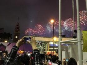 香港の花火