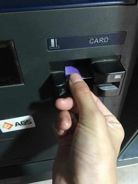 ATMで引き出し