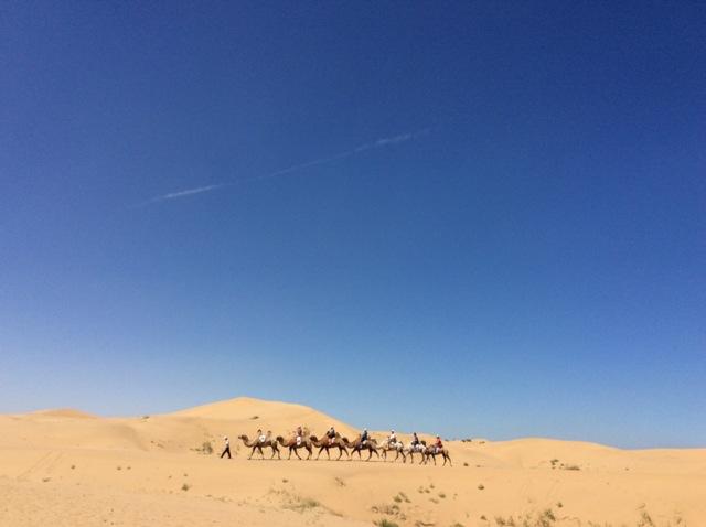 内モンゴルの砂漠