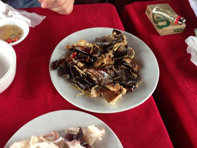カブトガニの料理