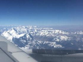 ネパールの冬山