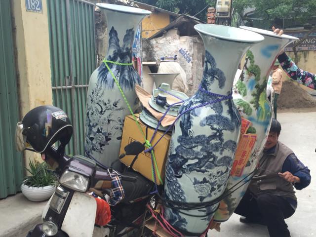 ベトナムのバイク荷物