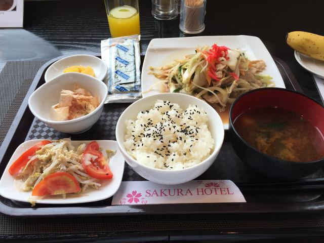 サクラホテルの朝食