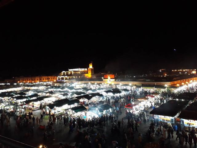 モロッコの夜景