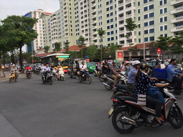 ベトナムの出勤の様子