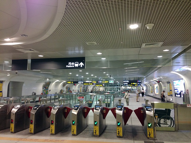 MRTの改札