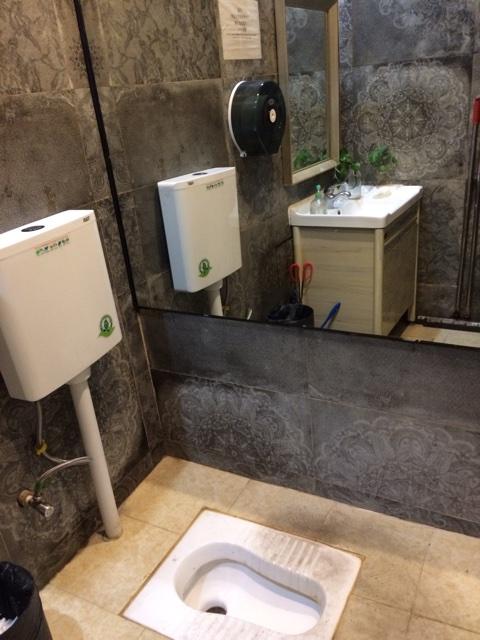 トイレの巨大な鏡