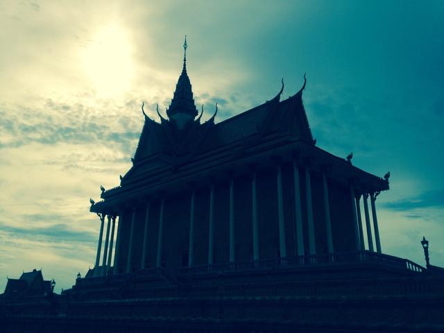 カンボジアの寺