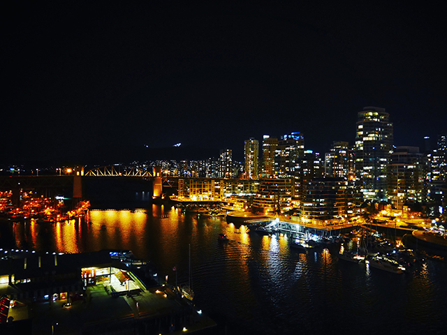 ダウンタウンの夜景