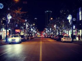 バンクーバーの夜景