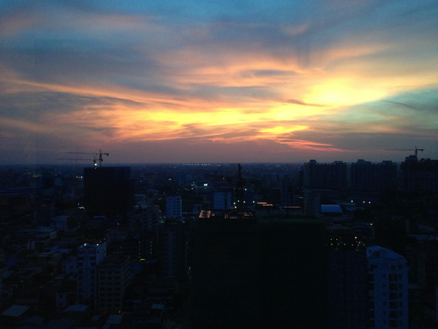 カンボジアの夜景
