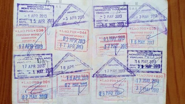 パスポートの印鑑
