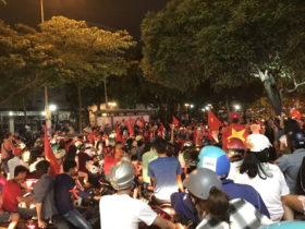 ベトナムのバイク渋滞