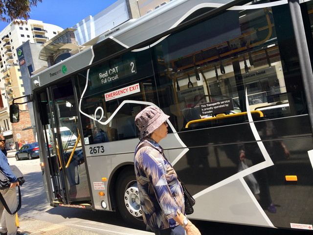 パース市内の無料バス