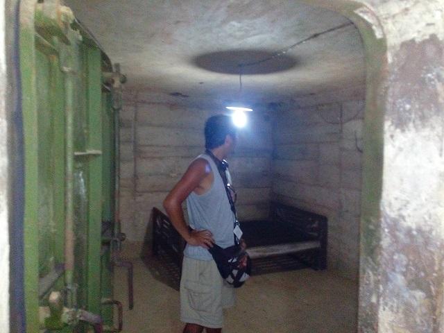 カイ・ソーン(ラオス初代大統領)が立て篭もった洞窟要塞の内部