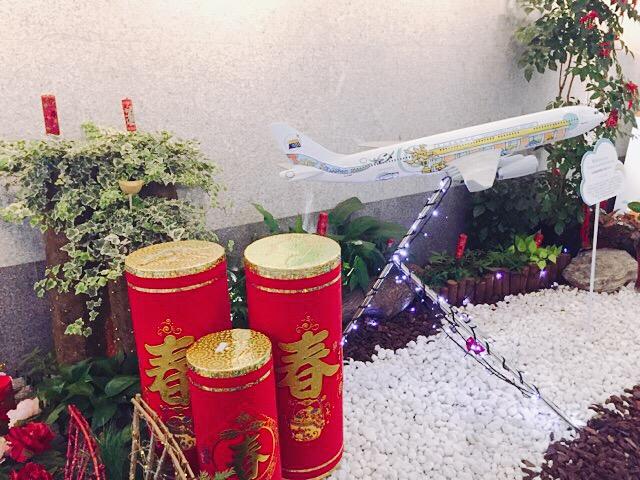 飛行機の置物