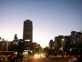 台湾の夕方