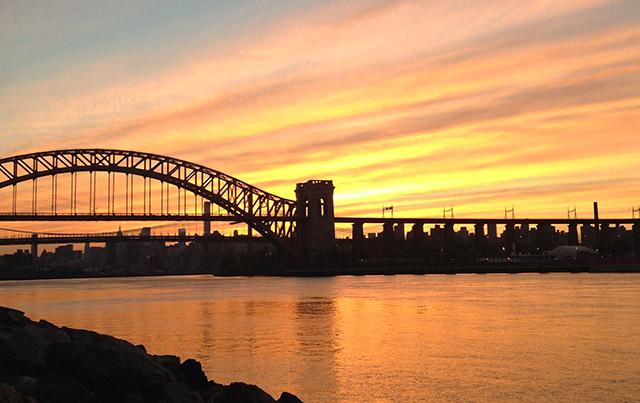 ニューヨークの夕焼け