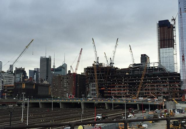 ニューヨークの建設中のビル