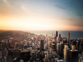 アメリカのシカゴの街
