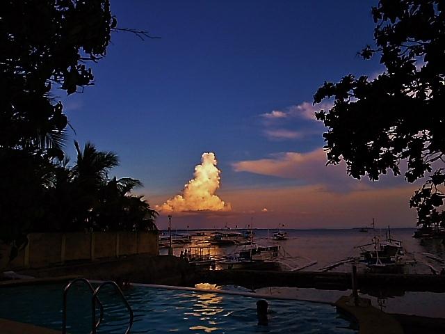 フィリピンの夕方