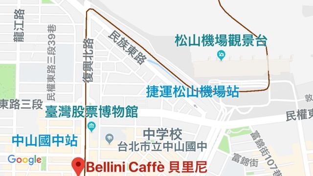 BELLINI CAFFE(復興店)のロケーション