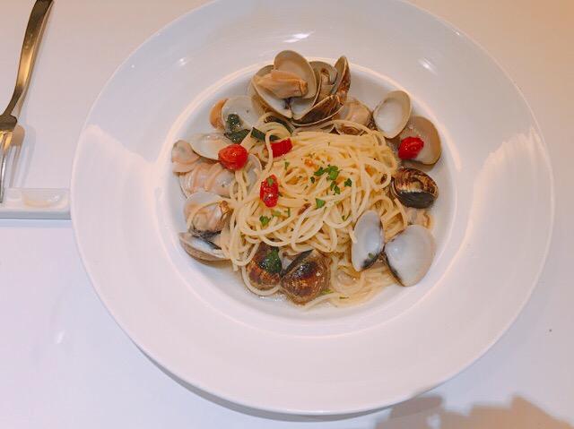 蒜味白酒蛤蜊麵