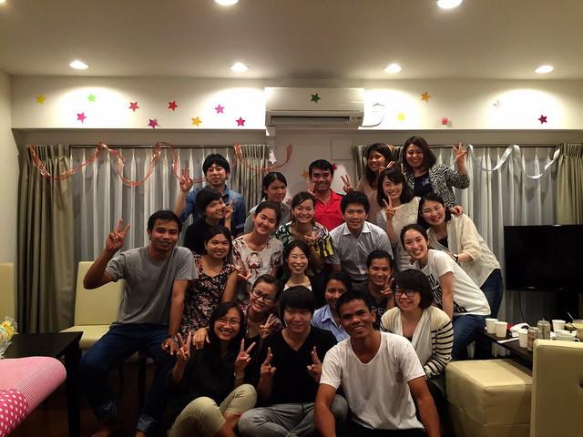 第1期カンボジア人留学生と共に