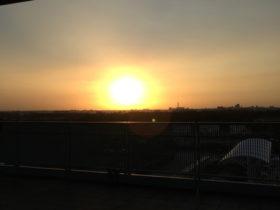 台湾の夕日