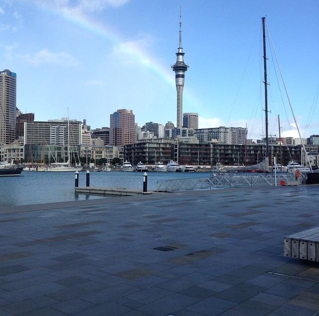 ニュージランドの港