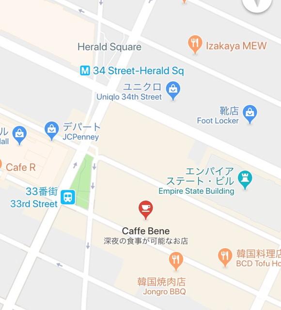 カフェベネのマップ