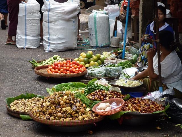 ミャンマーのマーケット