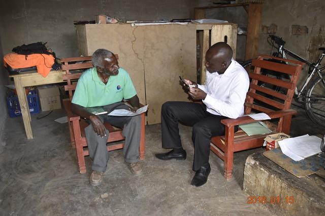 ザンビア共和国でインタビュー