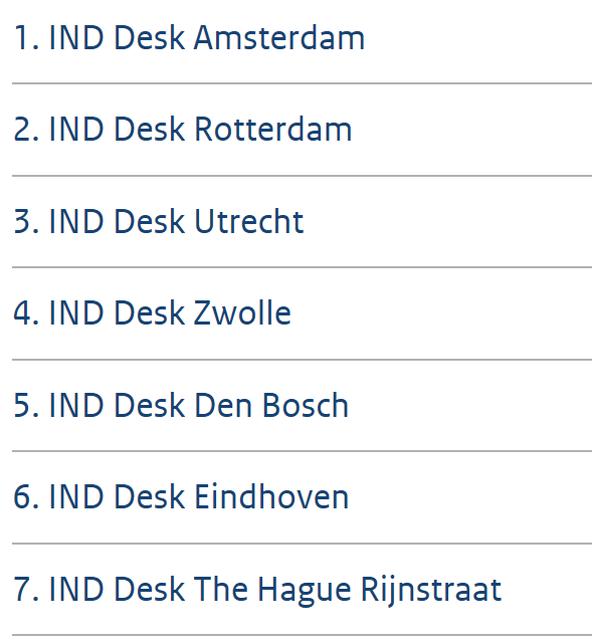オランダ移民局のリスト