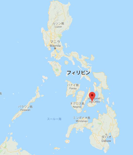フィリピンのマップ