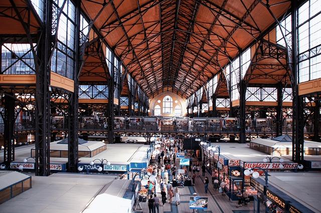ハンガリー・ブダペストの中央市場