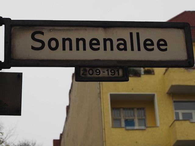 ゾネンアレー(サンアレー)Sonnenallee