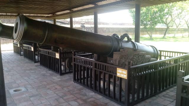 実際に使用されていた大砲