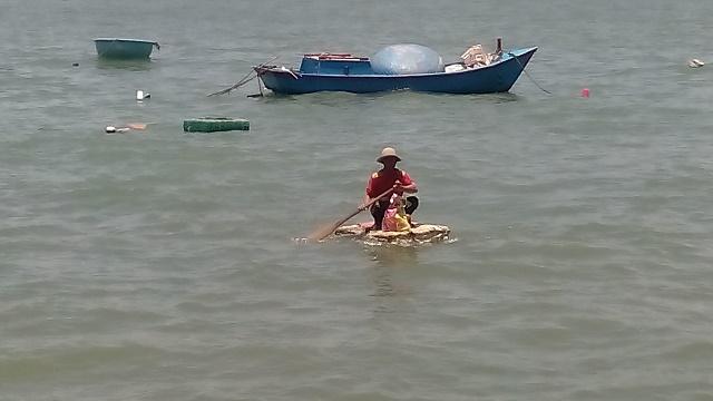 漁を終えた漁師