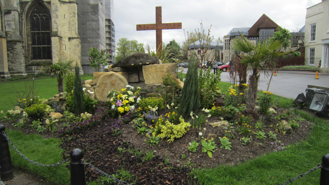カンタベリー大聖堂の庭