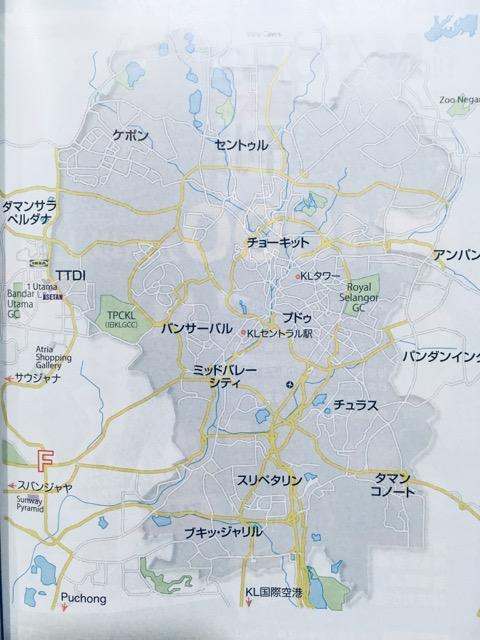 クアラルンプールのマップ