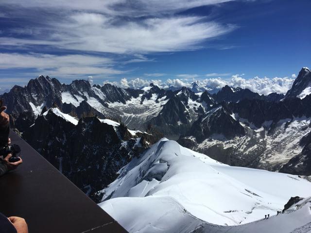 スイスの雪山
